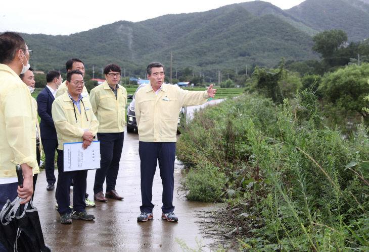 김동일 보령시장, 집중호우 피해시설 점검