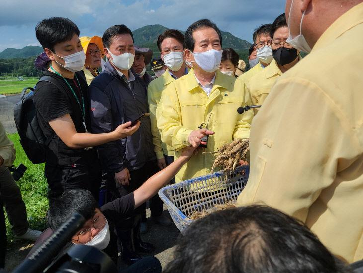 정세균 총리 금산수해현장 방문
