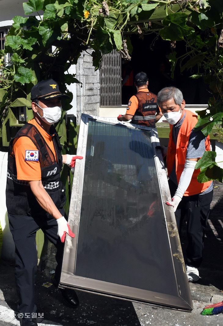 화재피해 주민 복구 지원에 총력 펼치는 대전소방