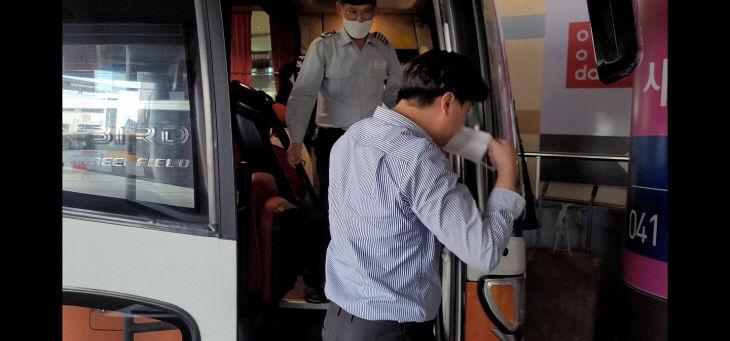 충남버스업체 마스크 무료 제공