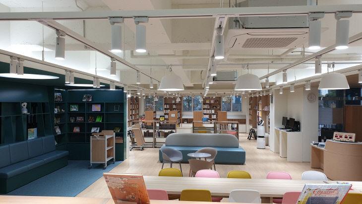 (사진1) 유성구, 아가랑도서관 개관 준비 한창