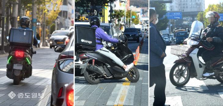 중앙선 침범, 곡예운전, 횡단보도 주행…이륜차의 난폭운전