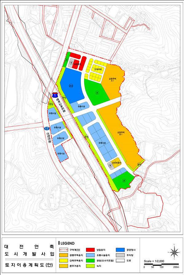 대전 연축지구 토지이용계획도