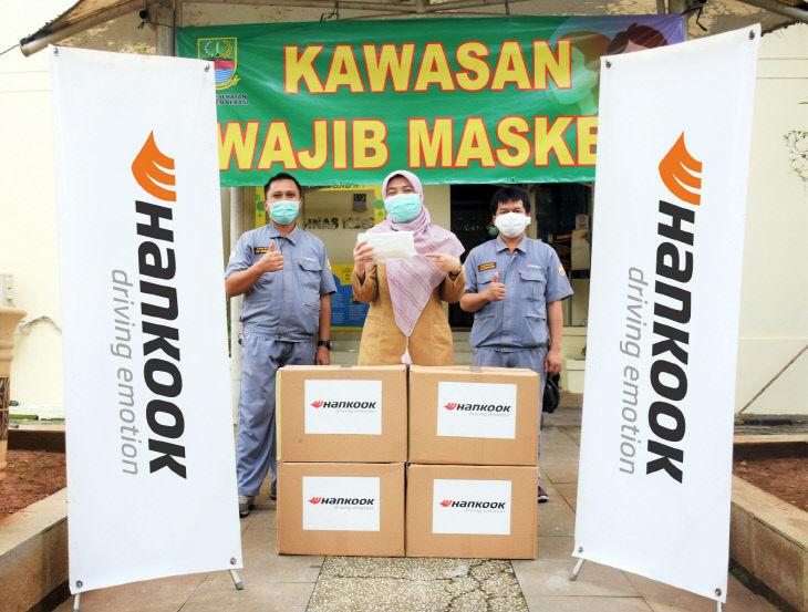 [사진자료] 한국타이어, 인도네시아 마스크 기부 활동