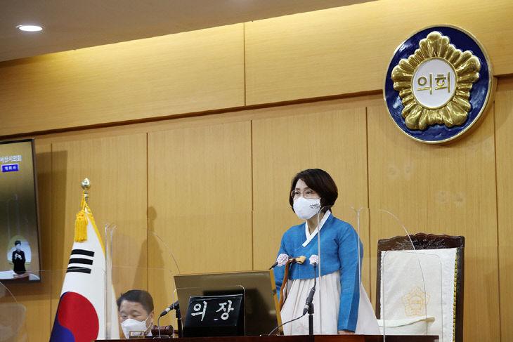 210113 서산시의회, 제258회 임시회 개회(사진1)
