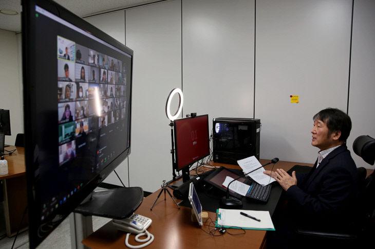[사진1] 신입생 예비교육 환영사