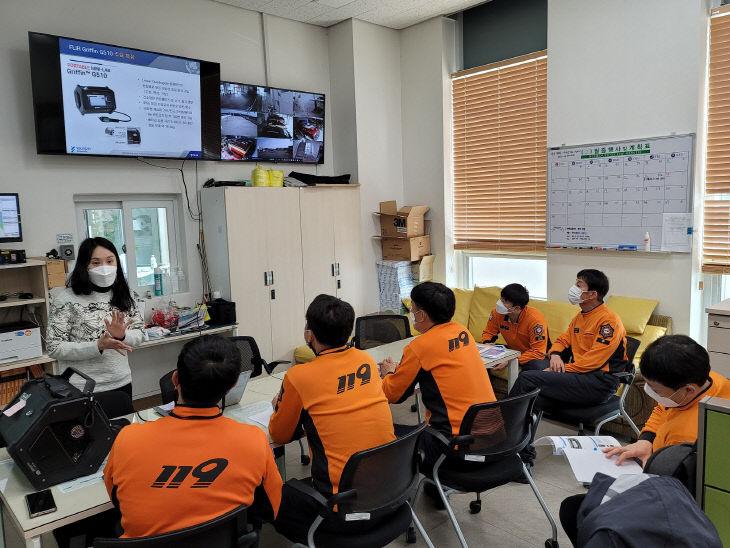 대전특수구조단, 유해물질 분석기 조작 교육 및 훈련 실시 (2)