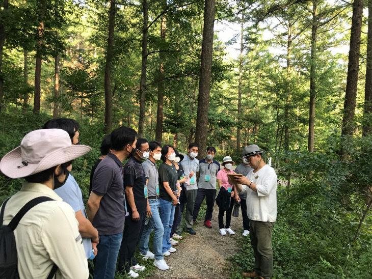 (사진1) 숲해설가 직업체험