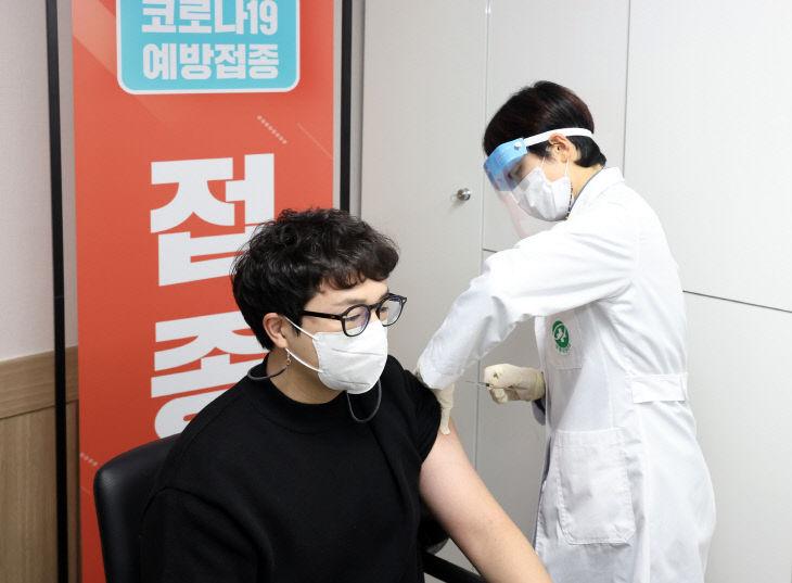 보령시 백신첫접종 시작