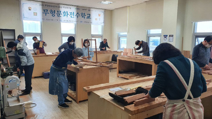 2020 무형문화전수학교 소목장 수업 사진