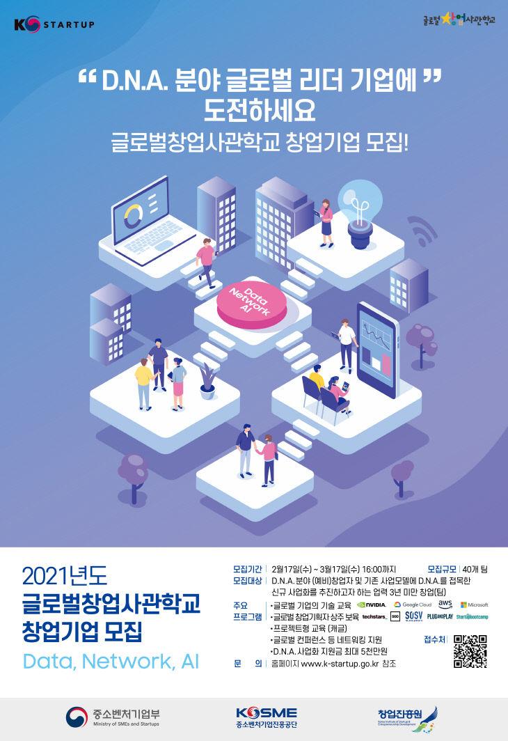 참고. 글로벌창업사관학교 2기 모집 포스터