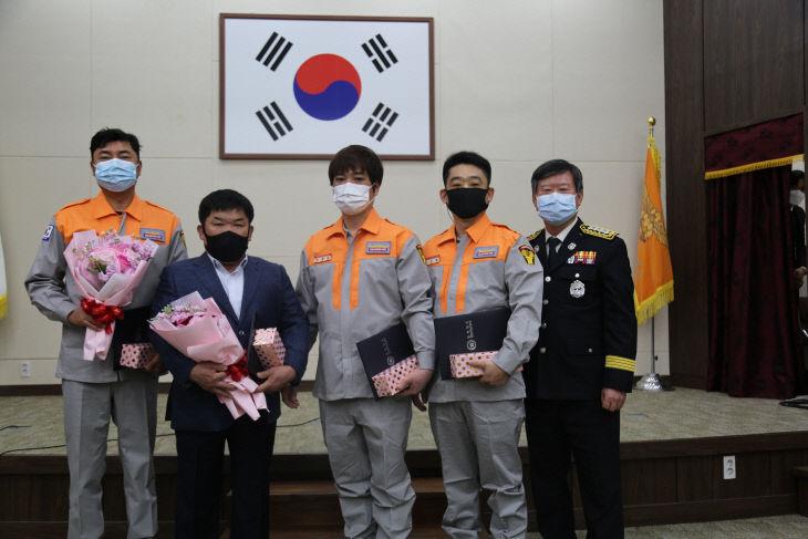 (0305)천안서북소방서, 의용소방대원 현장활동 유공 표창 수여