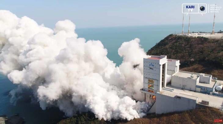 한국형발사체 누리호 1단 최종 종합연소시험 성공 영상