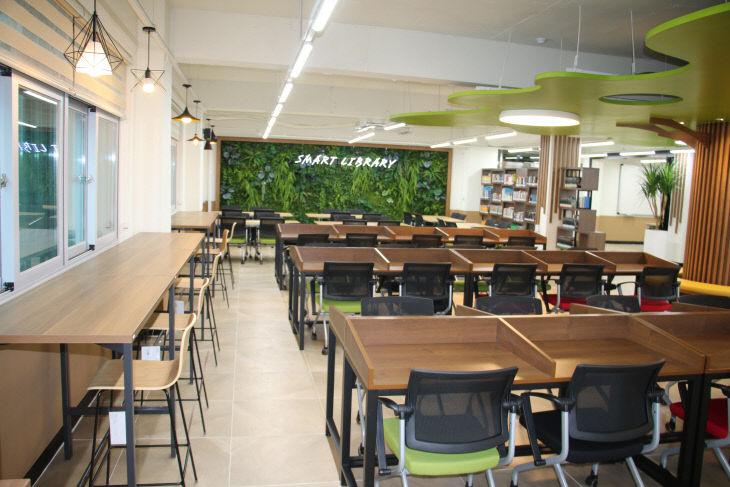 학교 환경 조성(전민고 도서실)
