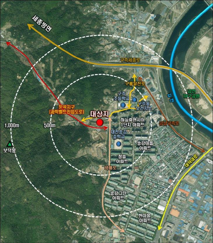 유성구 봉산동 개발제한구역 일부 해제