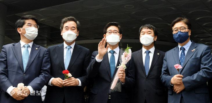 양승조 충남도지사 대선 출마 선언…'행복한 대한민국 만들겠다'
