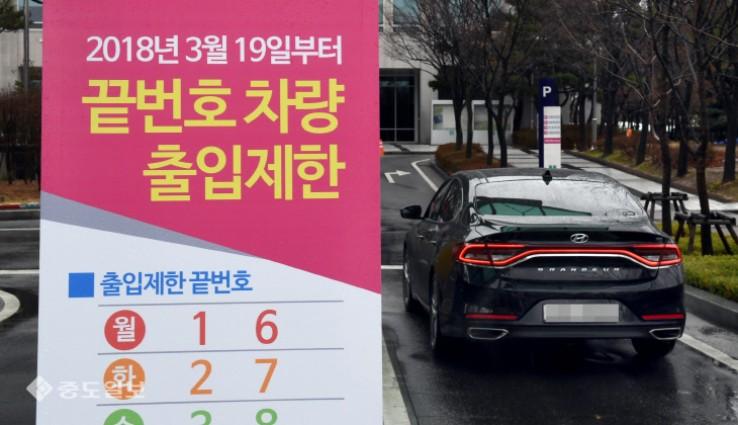 대전시청 `끝번호 요일제` 시행